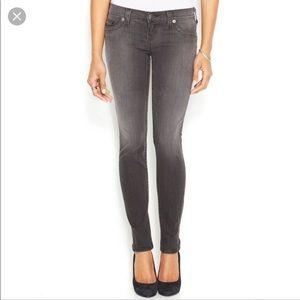 True Religion Gray Casey Super Skinny Jeans